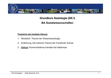 Präsentation - Philosophisch-Sozialwissenschaftliche Fakultät