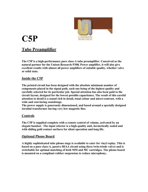 Unison Research C5P White Paper - VMAX Services