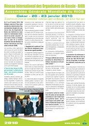 La déclaration de Dakar - RIOB