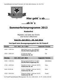 Sommerferien-Programm - SG-Findorff eV