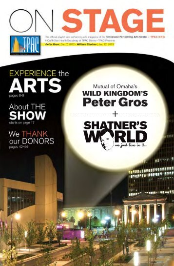 Peter Gros - Tennessee Performing Arts Center