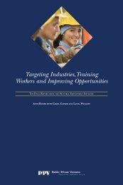 Targeting Industries,Training Workers and Improving Opportunities