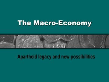 South African macroeconomics (pp-presentation in pdf-format