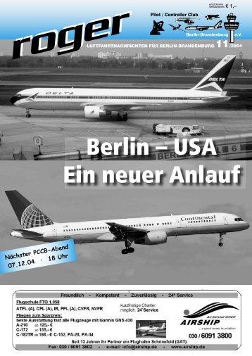 Berlin - Roger - Luftfahrtnachrichten für Berlin und Brandenburg