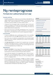 Prognose for Sverige - Danske Analyse - Danske Bank