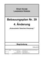 Bebauungsplan Nr. 39 4. Änderung
