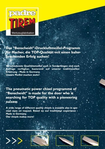 """Das """"Benscheidt""""-Druckluftmeißel-Programm für ... - ToolVendor"""