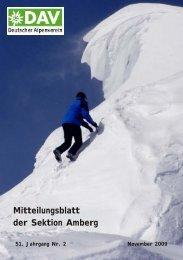 Mitteilungsblatt der Sektion Amberg - Dav-Sektion Amberg