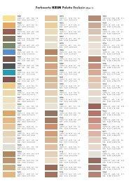 Farbwerte KEIM Palette Exclusiv (Blatt 1)