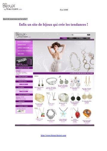 Enfin un site de bijoux qui crée les tendances ! - Site des Marques