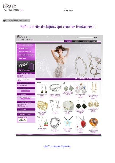 énorme réduction b702b ded75 Enfin un site de bijoux qui crée les tendances ! - Site ...