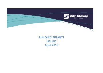 Building Permits Issued - City of Stirling
