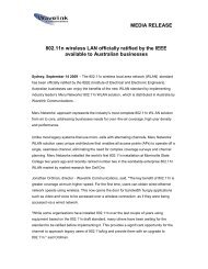 802.11n WLAN Standard Ratified by IEEE 2009-09-14 - Wavelink