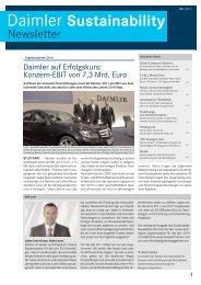 Daimler Sustainability Newsletter, März 2011