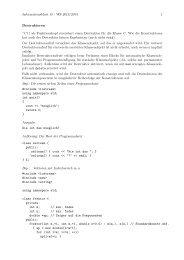 Informationsblatt 15 - WS 2013/2014 1 Destruktoren ~C() als ...