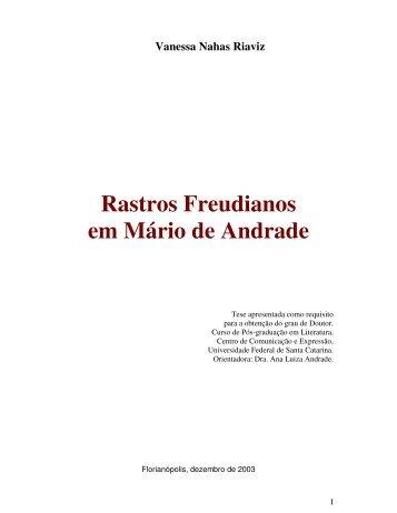 Rastros Freudianos em Mário de Andrade - Universidade Federal ...