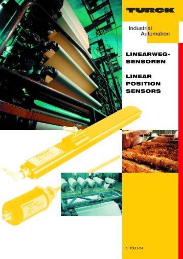 Linearwegsensoren / Linear position sensors