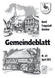 Gemeindeblatt April 2013