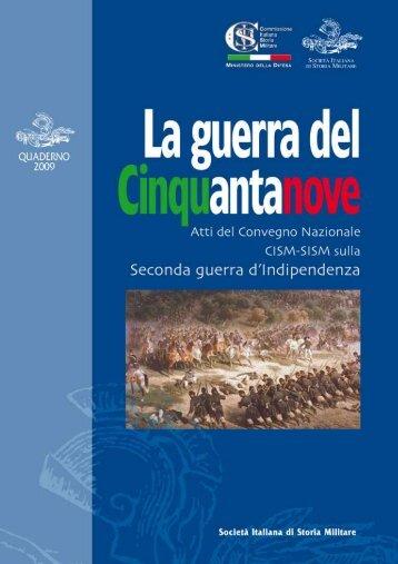 anno 2009 La guerra del cinquantanove - Societa italiana di storia ...