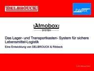 kosten, variable Nutzung von Kühlräumen - Delbrouck Gmbh