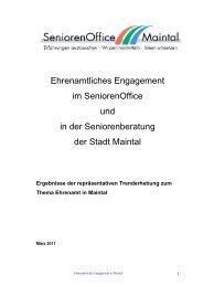 Ehrenamtliches Engagement im SeniorenOffice und in der ...