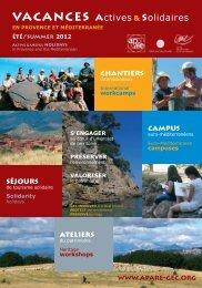 vacances actives & solidaires - L'apare