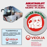 TILAUSMATKOILLE - Veolia Transport