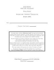 Statistics Final Exam Instructor - Anthony Tanbakuchi