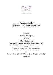 Fachspezifische Studien - Helmut-Schmidt-Universität
