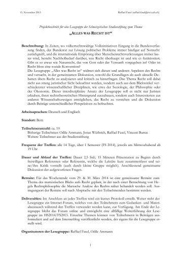 Projektbeschrieb neu - Schweizerische Studienstiftung