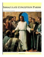April 22, 2012: The Third Sunday of Easter - Immaculate Conception ...