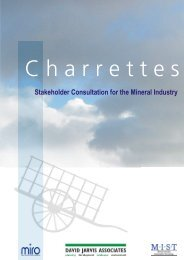Stakeholder Consultation for the Mineral Industry - Sustainable ...