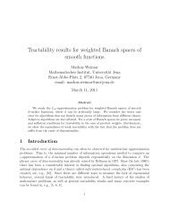 Tractability results for  weighted Banach spaces of smooth functions