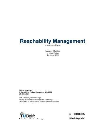 Reachability Management - CiteSeerX