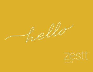 Press Kit - Zestt