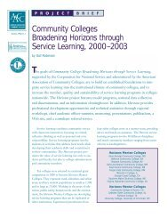 Community Colleges Broadening Horizons through Service ...
