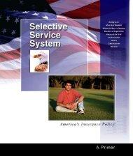 SSS Primer - Selective Service System