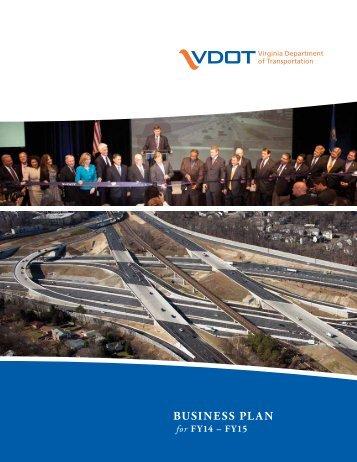 Business Plan - Virginia Department of Transportation