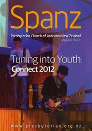 Spanz magazine - Presbyterian Church of Aotearoa New Zealand