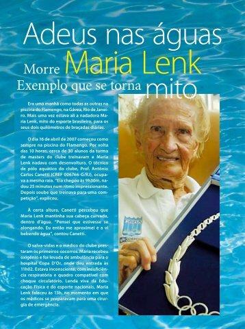Morre Maria Lenk - Confef