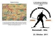 Kurzsprint Meisterschaft in Ulm 23. Oktober 2011 - DAV Ulm