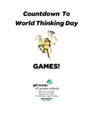World Thinking Day Games - Girl Scouts of Greater Atlanta