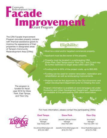 Facade Improvement - City of Tampa