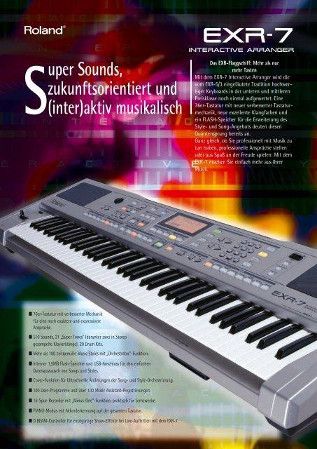 EXR-7 Broch_D.qxd - Roland Keyboard Club