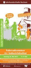 Flyer Fahrradsommer 2013 - Route-Industriekultur