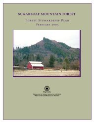 Sugarloaf Mountain Forest Stewardship Plan - King County