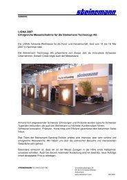 LIGNA 2007 - Steinemann Technology AG