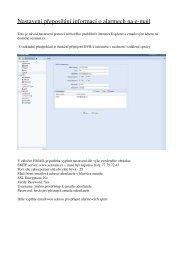 Nastavení přeposílání informací o alarmech na e-mail
