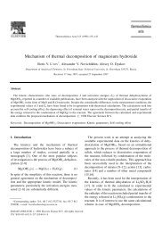 Mechanism of thermal decomposition of magnesium hydroxide