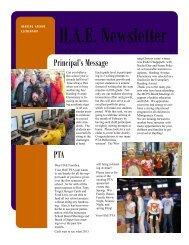 Principal's Message PTA - Montgomery County Public Schools